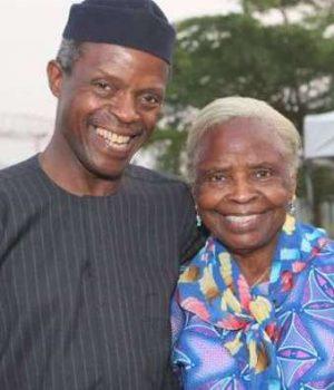VP Yemi Osinbajo-and mother Olubisi Osinbajo