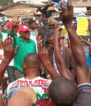 Peter Obi in Anambra market