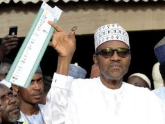 President Buhari casting his votes in the previous polls