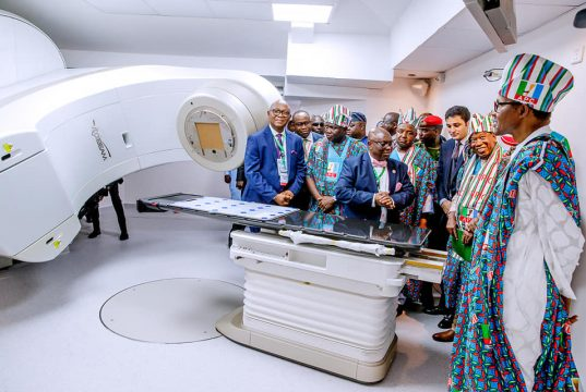 President Buhari at the commissioning of NSIA-LUTH Cancer centre
