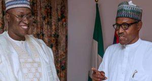 President Buhari with Bala Tinka at State House