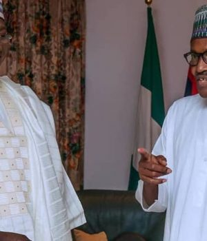President Buhari with Bala Tinka at State House