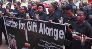 In support of Gift Alonge