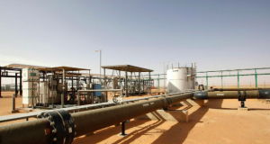 Pipelines leading to El Sharara oilfield in Libya