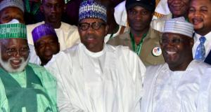 Gen. Abdusalami Abubakar, President Buhari and Atiku Abubakar
