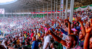 APC supporters at the Presidential Rally in PortHarcourt