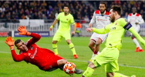 Before the game, Lionel Messi had scored 90 goals in his last 90 Champions League starts