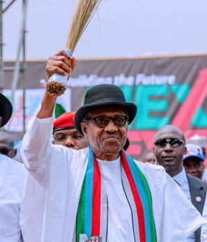 Sen. Lokpobiri, President Buhari and ex-Gov. Timprye Sylva