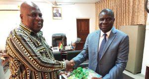Ambassador Olufemi Abikoye with Greater Accra Minister, Ishmael Ashitey