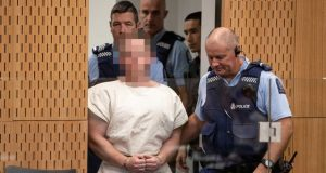 Suspected supremacist Australian Brenton Harrison Tarrant, in white robe