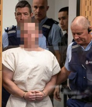 Suspected supremacist Australian Brenton Harrison Tarrant, in white robe