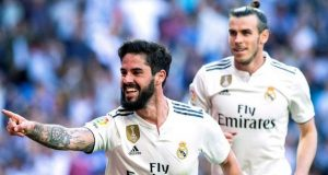 Isco and Bale after scoring against Celta Vigo