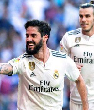 Isco and Bale after scoring against Celta Vigo