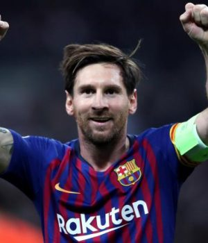 Lionel Messi inspired Barca against Lyon