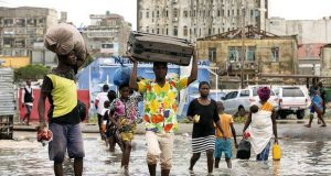 Mozambique citizens leaving Cyclone affected areas