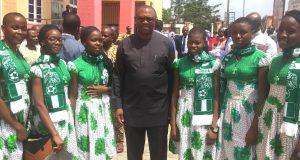 Peter Obi with Regina Pacis students