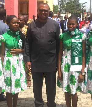 Peter Obi with Regina Pacis students