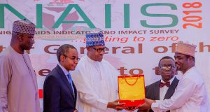 President Buhari at NACA presentation in Abuja