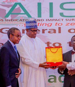 President Buhari at NACA presentation in Abuja