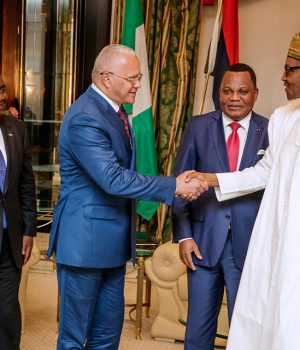President Buhari with Envoys from Congo
