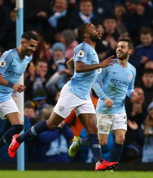 Raheem Sterling puts Man City ahead of Watford