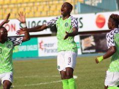 Hat-trick hero Victor Osimhen with other U23 teammates