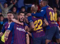 Barcelona celebrate 4-4 draw with Villarreal