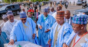 Buhari in Borno, assures of return of other captured Chibok and Dapchi school girls