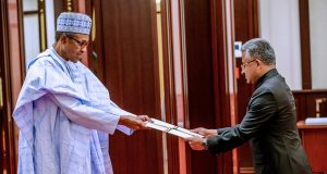 Buhari receives Letter of Credence from High Commissioner of India to Nigeria, Abhay Thakur,