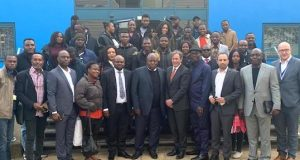 NDDC MD, Prof. Nelson Brambaifa, and his team in UK