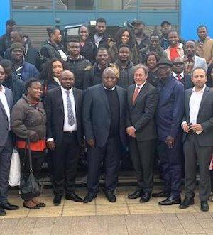 NDDC MD, Prof. Nelson Brambaifa, and his team in UK