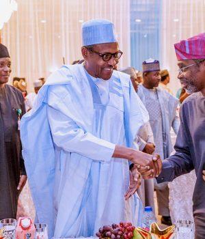 Oshiomhole, Buhari and Gbajabiamila