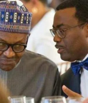 President Buhari and- Dr. Akinwunmi Adesina