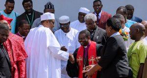 Rev (Dr.) Samson Ayokunle leads members to President Buhari