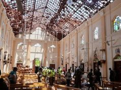 One of the scenes of the Sri Lanka attacks