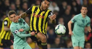 Torreira with Deeney as Arsenal beat Watford to go fourth