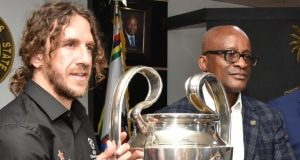 Lagos sports commission boss, Dr. Kweku Tandoh and Charles Puyol