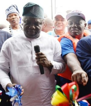Ambode commissioning the Ilaje project