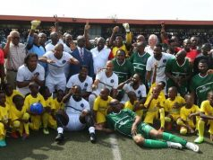 Ambode with African and Nigerian soccer legends