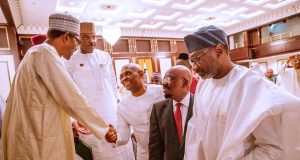 Buhari, Elumelu, Jim Ovia and Femi Otedola