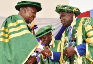 Ex-Ghanaian President Dramani Mahama and Ambode