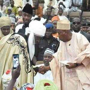 Gov. Ganduje at the installation of new emirs