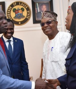 Gov. Ambode meets top Excos and Mgt of Oodu'a Investment
