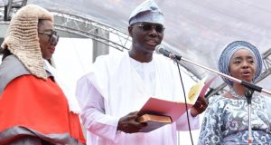 Gov. Babajide Olusola Sanwo-Olu during his inauguration
