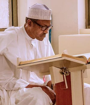 PMB reads Qur'an at the State House mosque