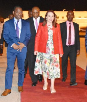 Ms Maria Espinosa,, UNGA President arrives Nigeria