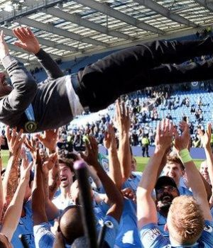 Pep Guardiola thrown up by players