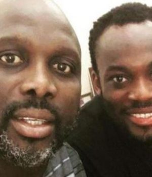 President George Opong Weah and Micheal Essien