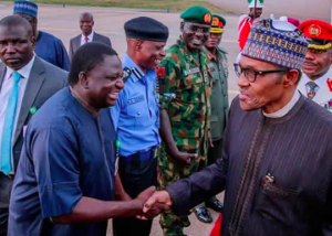 Buhari with Femi Adesina