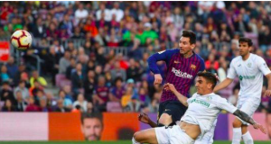 Barcelona's second was credited as an own goal, denying Lionel Messi a 35th La Liga goal of the season